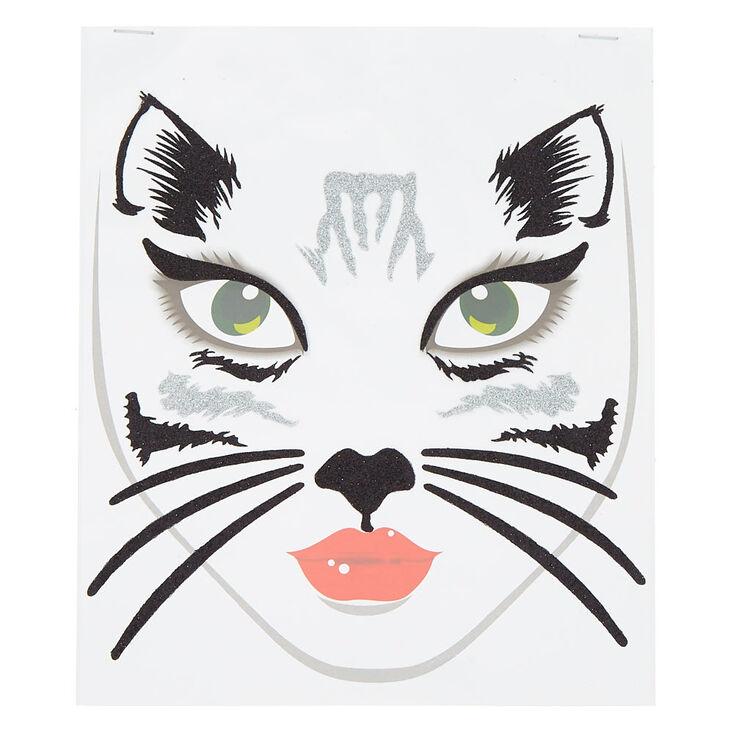 Cat Face Tattoos - Black, 18 Pack,