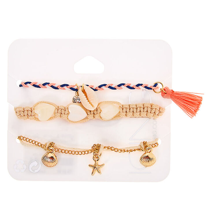 Woven Tropical Chain Bracelets - 3 Pack,