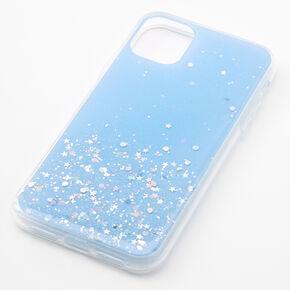 Blue Glitter Star Liquid Fill Phone Case - Fits iPhone 11,