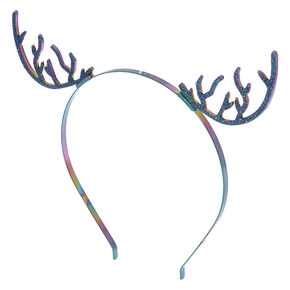 Anodized Glitter Deer Antlers Headband,