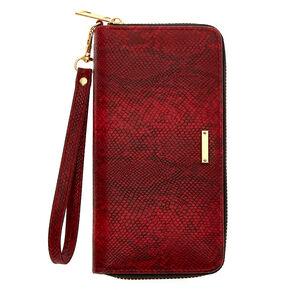 Snakeskin Wristlet - Red,