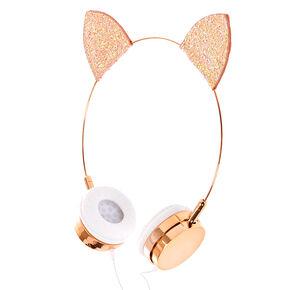 Rose Gold Cat Ear Headphones,