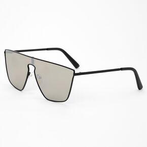 Gray Shield Sunglasses - Black,