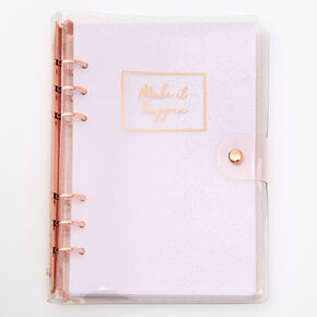 Make It Happen Rose Gold Journal,
