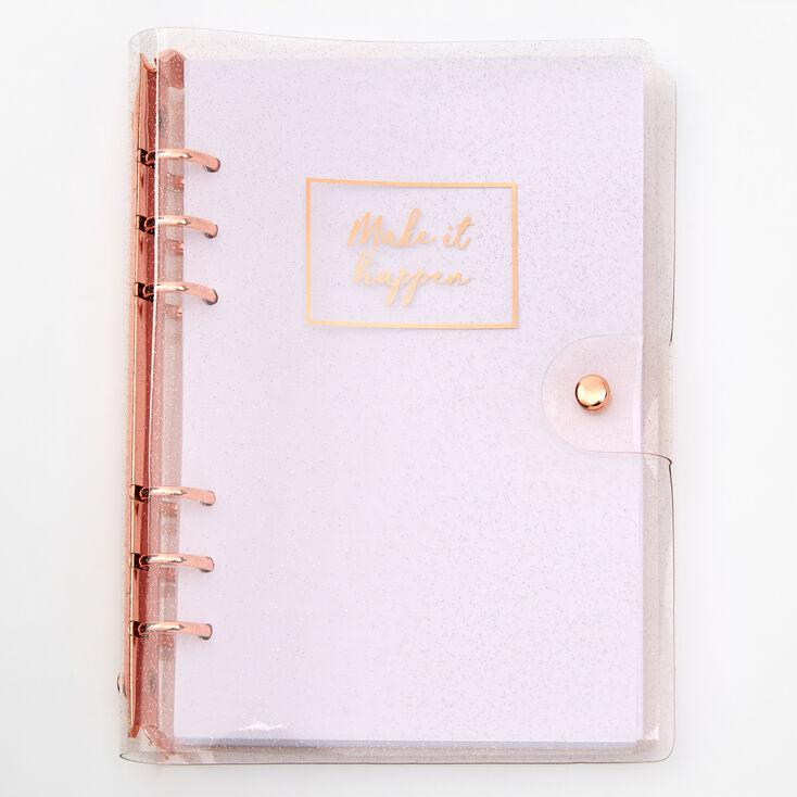 Make It Happen Rose Gold Journal,