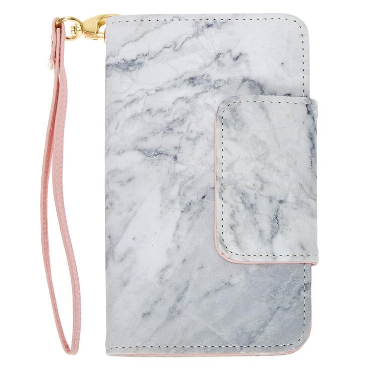 Marble & Pink Wristlet & Phone Gripper,