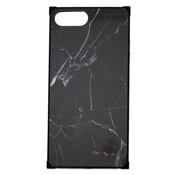 Marble Square Phone Case - Black,