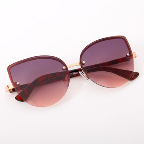 Amber Oversized Rounded Cat Eye Sunglasses,
