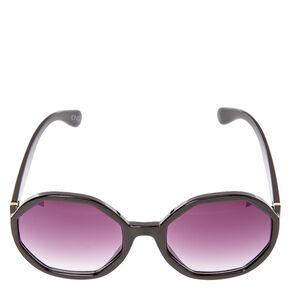 Hexagon Black Sunglasses,