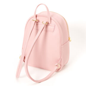 Pearl Quilted Small Backpack - Pink,