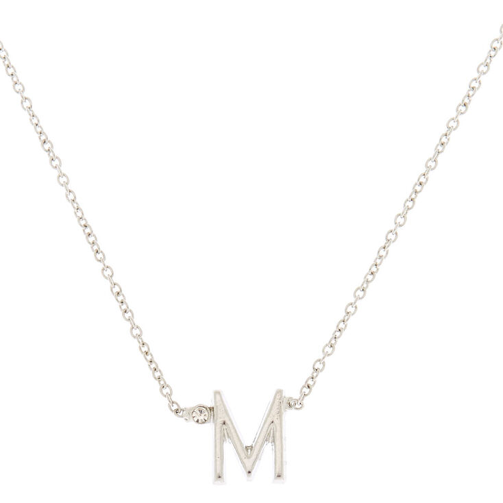 Silver Initial Necklace - M,