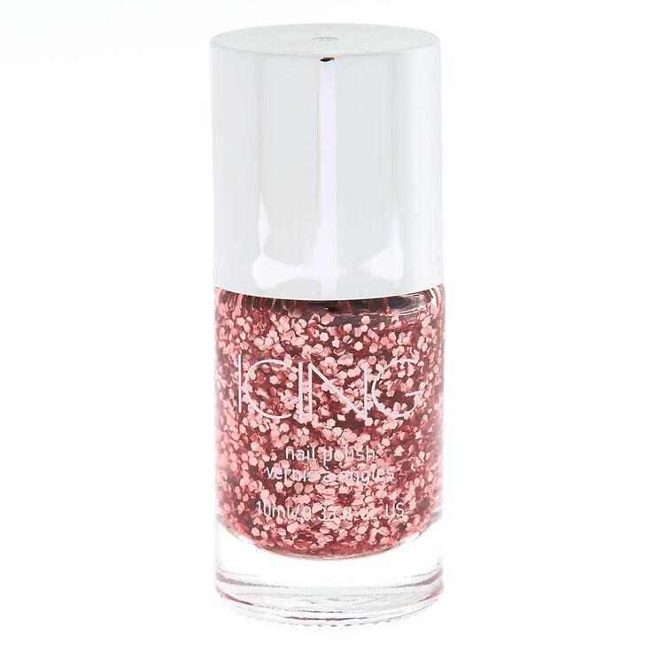 Rosé All Day Chunky Glitter Nail Polish - Rose Gold,
