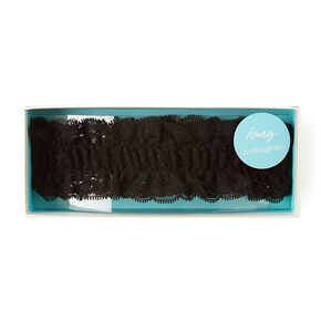 Black Lace Bridal Garter,