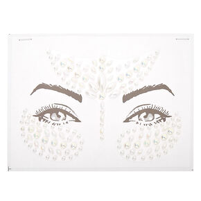 Faux Pearl Forehead Gems - White,