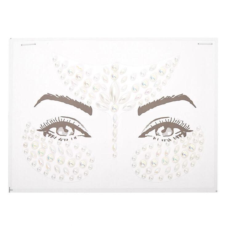 Faux Pearl Forehead Gems - White,