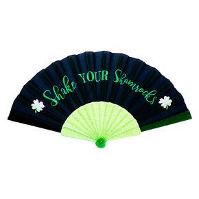 Shake your Shamrocks Folding Fan - Black,