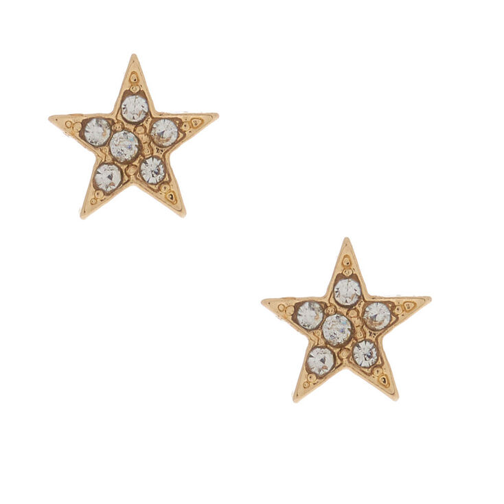 18kt Gold Plated Star Stud Earrings,