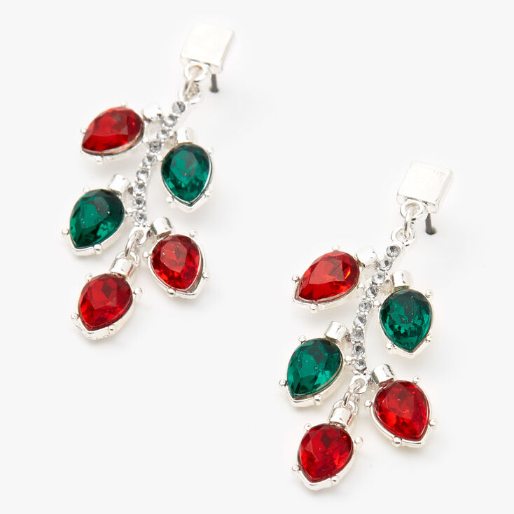 """Silver 1.5"""" Light Strand Drop Earrings,"""