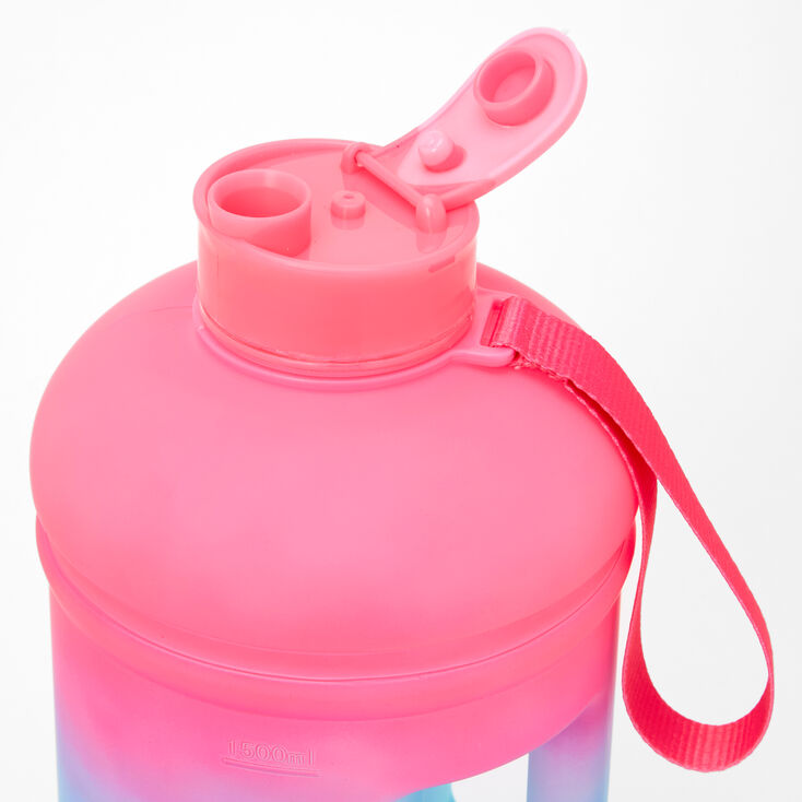 Pink & Blue Ombre Handle Water Bottle,