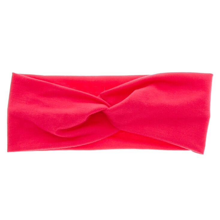 Wide Jersey Headwrap - Raspberry,