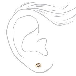 Gold Rhinestone And Pearl Layered Jewelry Set- 2 Pack,