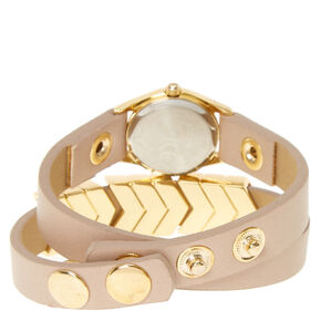 Gold Arrow Wrap Watch,