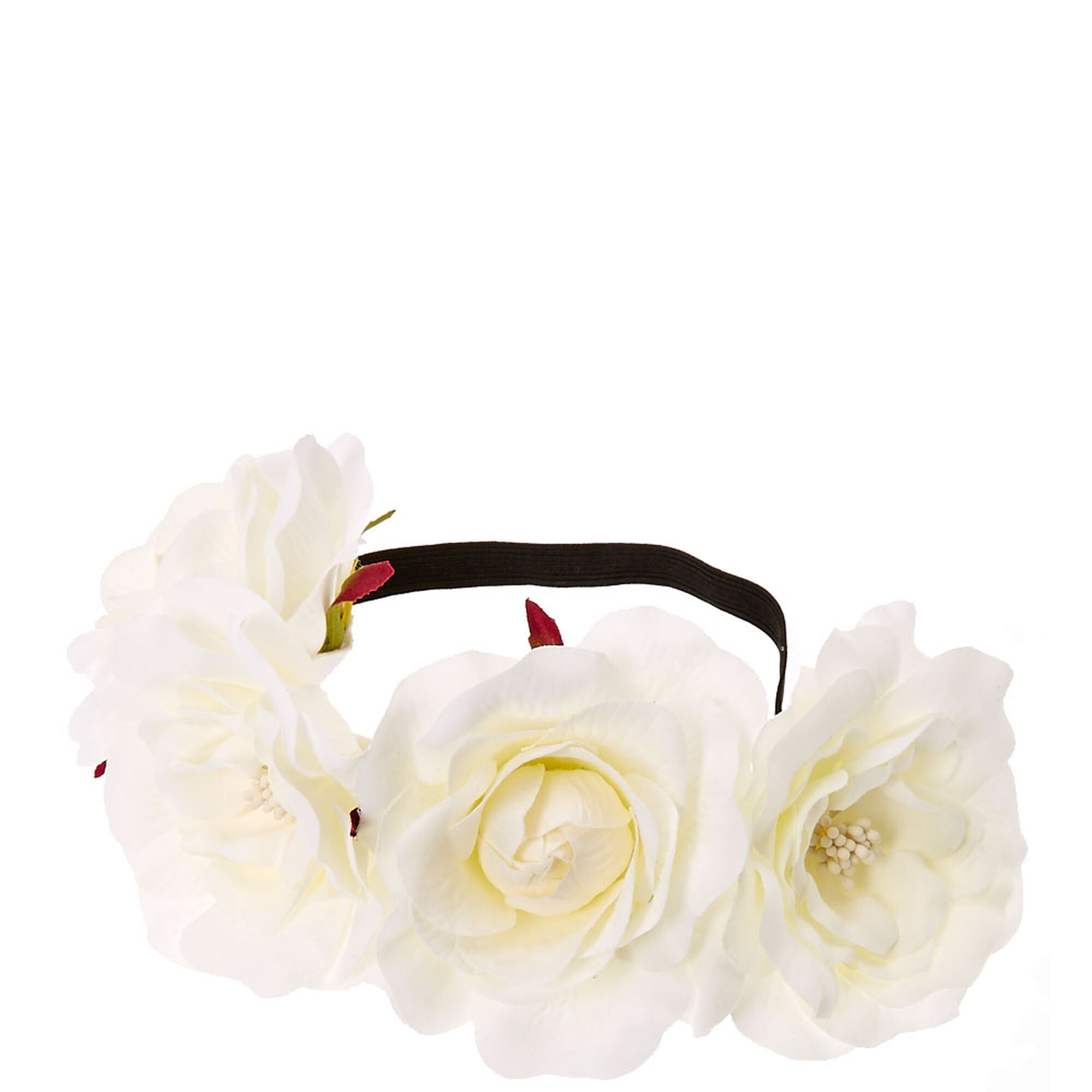 White Floral Stretch Flower Crown   Icing US