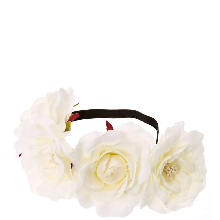 White Floral Stretch Flower Crown | Icing US
