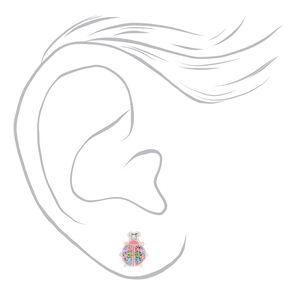 Sterling Silver Ladybug Stud Earrings,