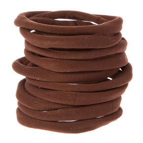 Brown Rolled Ponytail Holders Set,