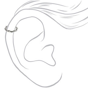 Silver 16G Twisted Vine Cartilage Hoop Earring,