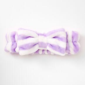 Stripe Makeup Bow Headwrap - Lilac,
