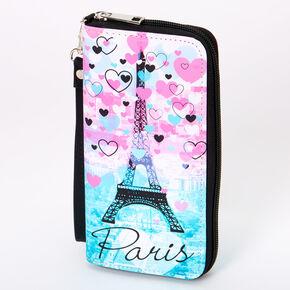 Paris Hearts Ombre Wristlet - Pink,