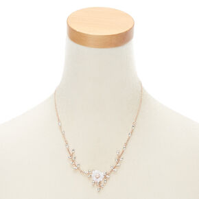 Rhinestone Leaf & Flower Jewelry Set - 2 Pack,