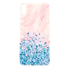 Marble & Confetti Glitter Phone Case - Fits iPhone XS Max,