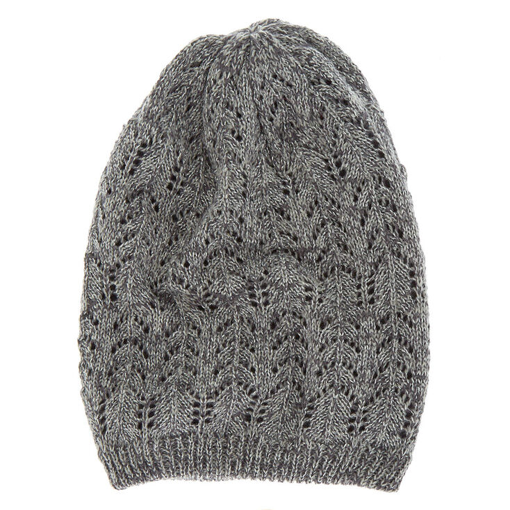 Double Layer Knit Beanie - Gray,