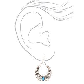 """Silver 1.5"""" Western Drop Earrings,"""
