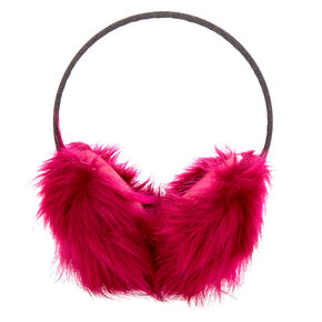 Furry Ear Muffs - Pink,