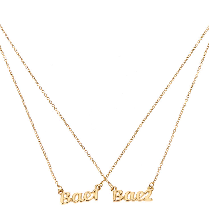 Bae 1 Bae 2 Matching Necklace Set,