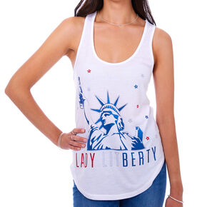 Lady LITberty Tank Top - White,