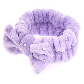 Makeup Bow Headwrap - Purple,