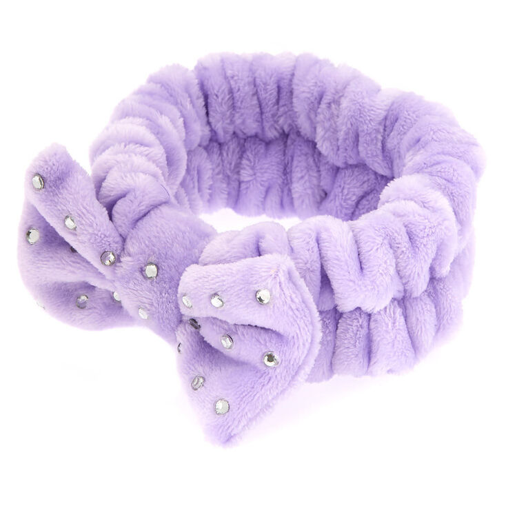 Makeup Bow Headwrap - Purple,