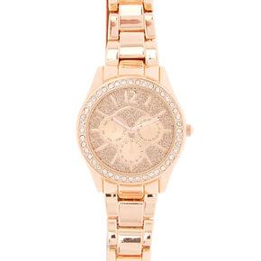 Rose Gold Glitter Boyfriend Watch,