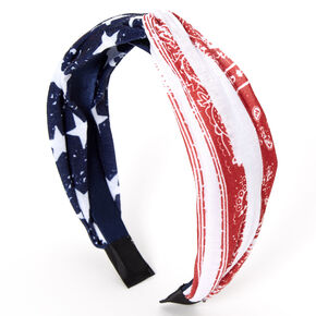 USA Paisley Bandana Knotted Headband,