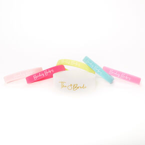 Bachelorette Rubber Bracelet Set - 6 Pack,