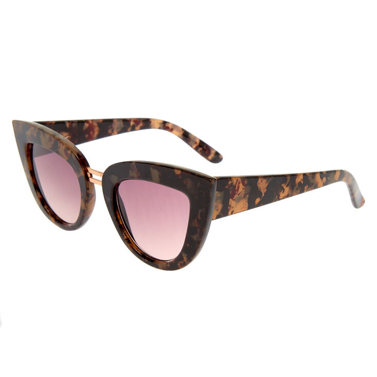 Tortoise Shell Cateye Sunglasses,