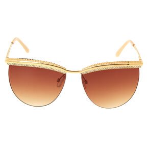 Bling Brow Sunglasses - Gold,