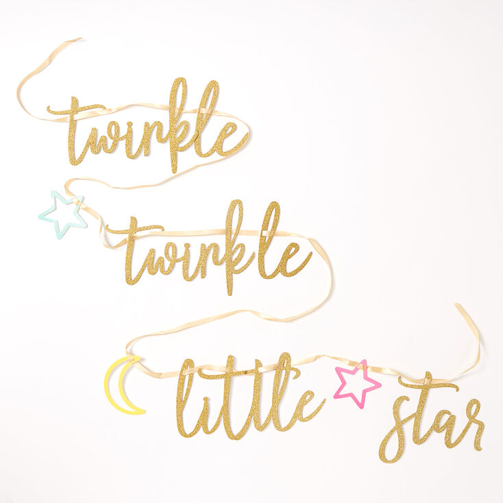 Twinkle Twinkle Little Star Party Banner - Gold,