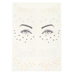 Metallic Star Face Temporary Tattoos - 2 Pack,