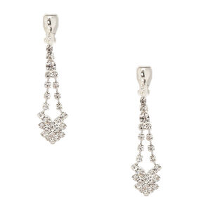 Crystal Clip On Drop Earrings,